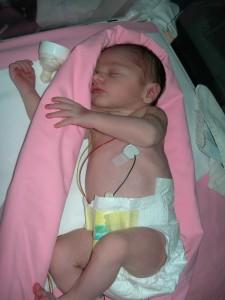 Photo de Margot quelques heures après sa naissance
