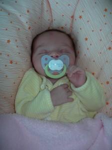 Margot le jour de la sortie de la maternité